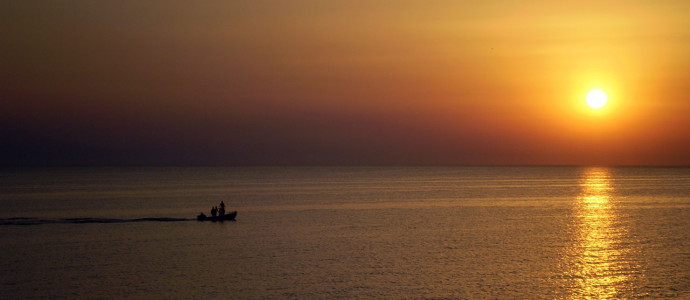 Sunset in Fourka Halkidiki